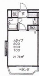 サンパレスなとり3号室図面